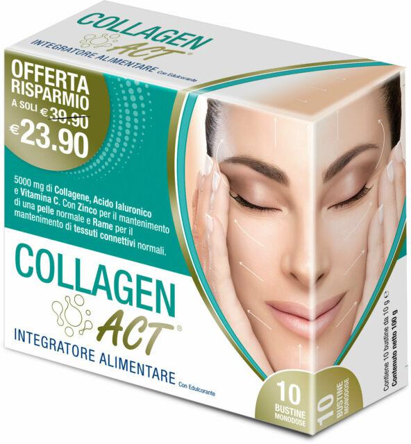 COLLAGEN ACT 10 BUSTINE ACIDO IALURONICO POLYGONUM RESVERATROLO COLLAGENE