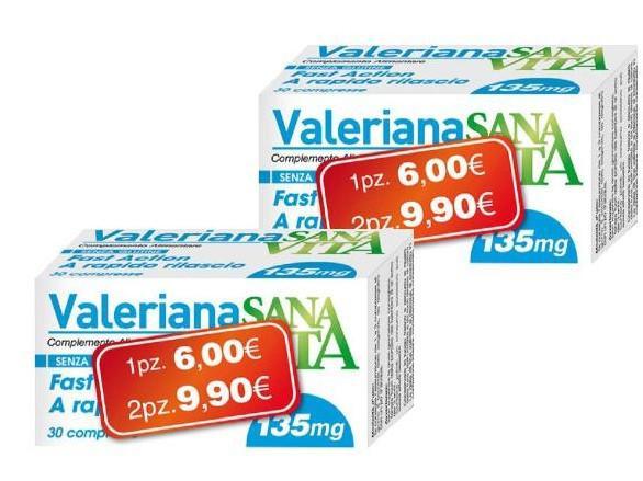 SANAVITA VALERIANA - INTEGRATORE - 30 COMPRESSE