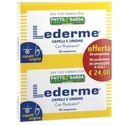 LEDERME - INTEGRATORE CAPELLI E UNGHIE 30 cpr + 30 cpr in omaggio