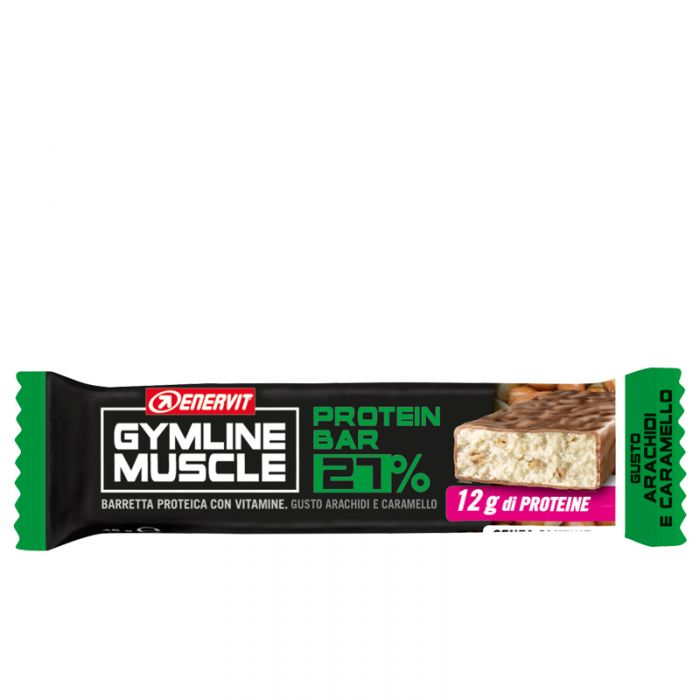 Enervit Gymline Muscle - Protein Bar 27% Arachidi e Caramello