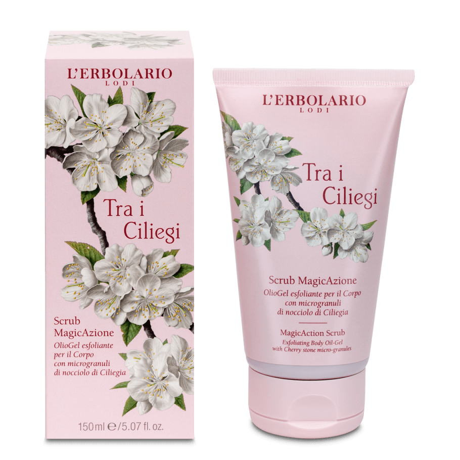 TRA I CILIEGI SCRUB MAGIC AZIONE OLIOGEL ESFOLIANTE CORPO 150ML