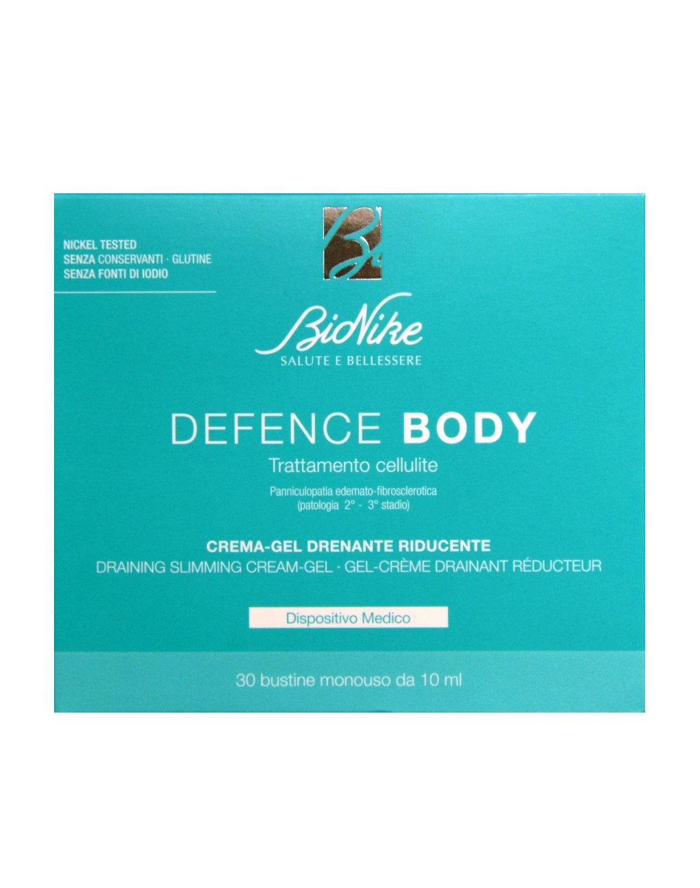 BIONIKE DEFENCE - BODY ANTICELLULITE CREMA-GEL DRENANTE RIDUCENTE