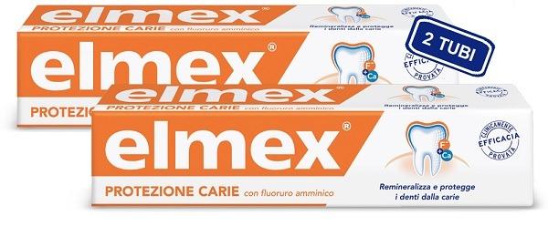 Elmex Protezione Carie dentifricio 2 Tubi