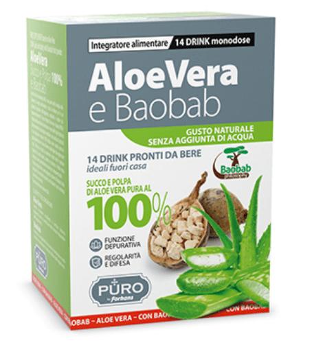 PURO ALOE VERA SP 100%+ BAOBAB DRINK MONODOSE
