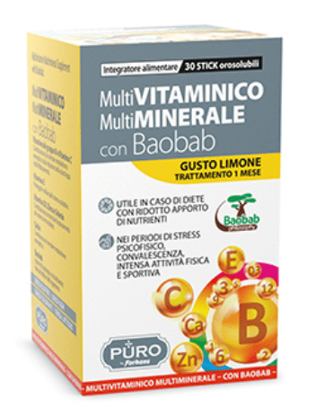 PURO MULTIVITAMINICO E MULTIMINERALE 30 STICK