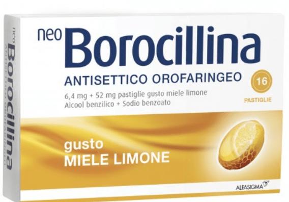 NEOBOROCILLINA ANT OR 16 PAST (Gusto Miele/Limone o Arancia) - Arancia
