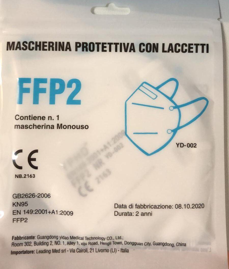 Mascherina protettiva con laccetti FFP2