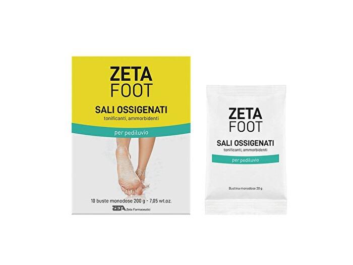 Zeta Foot Sali Ossigenati tonificanti e ammorbidenti per pediluvio 10 buste monodose
